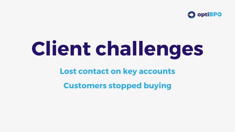 optiBPO Client Challenges - Regenerating Customer Account Management